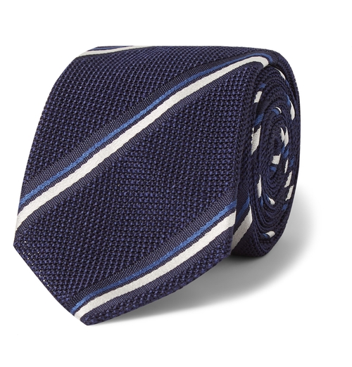 Striped Tie by Canali in Elementary - Season 4 Episode 6