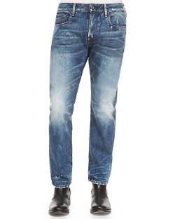 Faded Wash Straight-Leg Jeans by G-Star in Magic Mike XXL