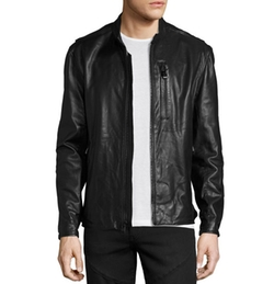 Mackinley Leather Moto Jacket by Andrew Marc in Lethal Weapon