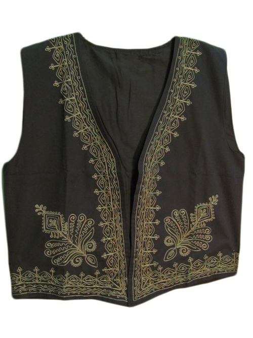 Indian Embroidered Outerwear Vest by Yoga Trendz in Me and Earl and the Dying Girl