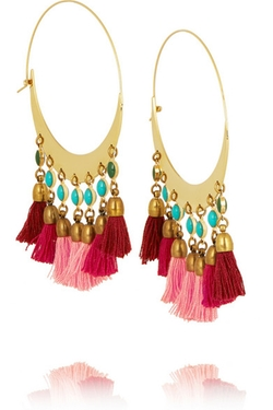 Isabel Marant Gold-Plated Beaded Hoop Earrings