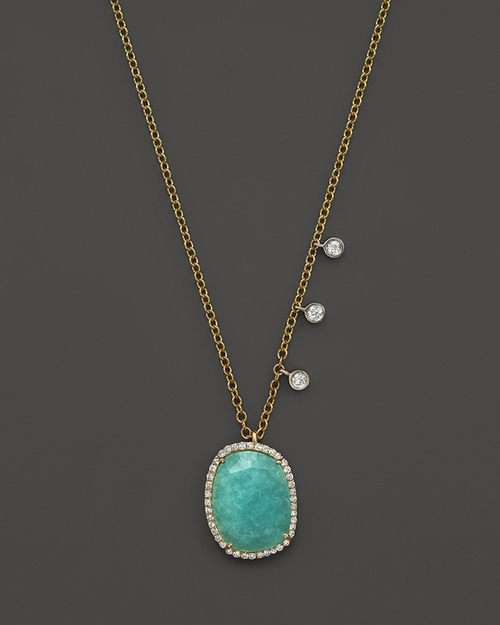 Amazonite Pendant Necklace by Meira T in How To Get Away With Murder - Season 2 Episode 4