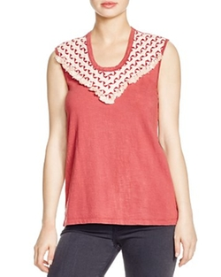Joan Sleeveless Tee by Pepin in Rosewood