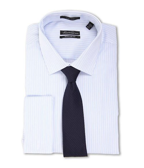 Non-Iron Regular Fit Stripe French Cuff Dress Shirt by Kenneth Cole New York in The Other Woman