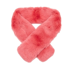 Luxury Rabbit Fur Collar Scarf by Oxfords Cashmere in Scream Queens