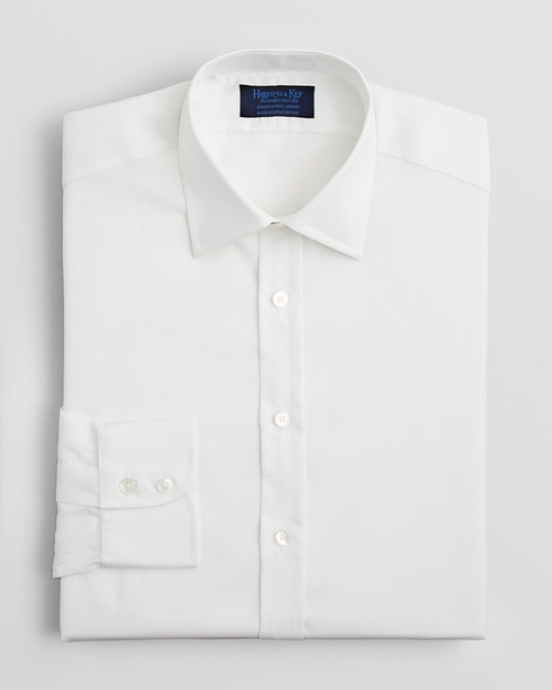 Solid Royal Oxford Dress Shirt by Hilditch & Key in Suits - Season 5 Episode 1