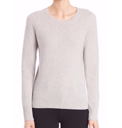 Cashmere Crewneck Sweater by Saks Fifth Avenue Collection in Love