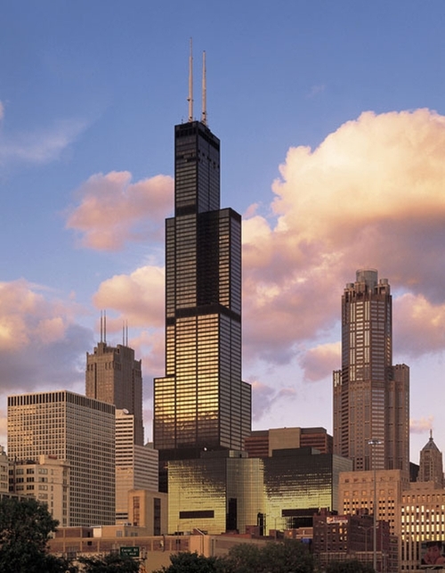 Willis Tower Chicago, Illinois in Barbershop: The Next Cut