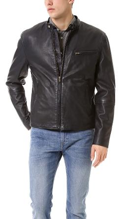 Leather Biker Jacket by Levi's Made & Crafted in Ride Along