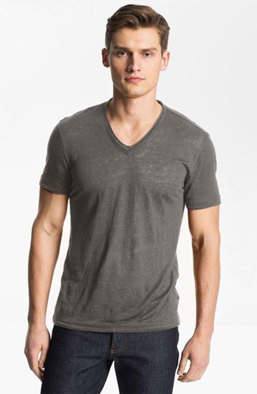 V-Neck Linen Shirt by John Varvatos in Entourage