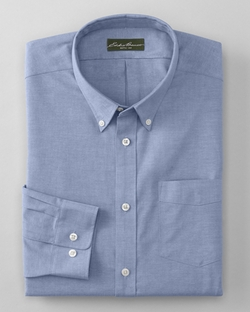 Wrinkle-Free Relaxed Fit Oxford Cloth Shirt by Eddie Bauer in She's Funny That Way