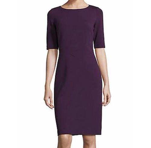 Asymmetric Seamed Sheath Dress by Lafayette 148 New York in Supergirl - Season 1 Episode 3
