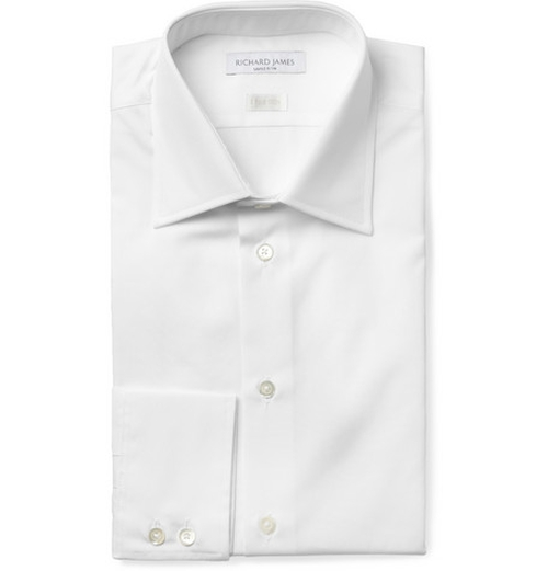 Cotton-Poplin Shirt by Richard James in Black Mass