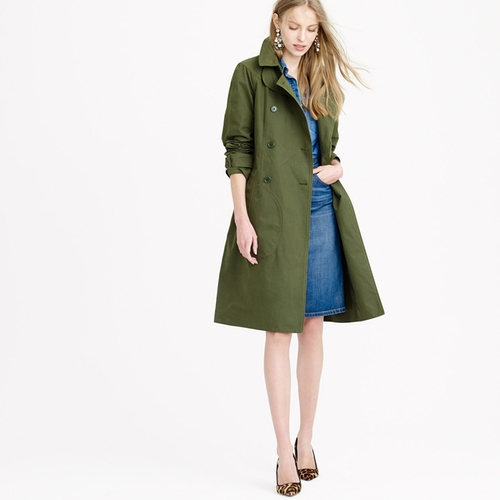 Military Trench Coat by J. Crew in Burnt