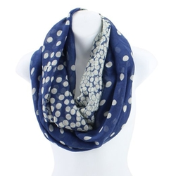 Polka Dots Print Scarf by Accessory Necessary in Fifty Shades of Grey