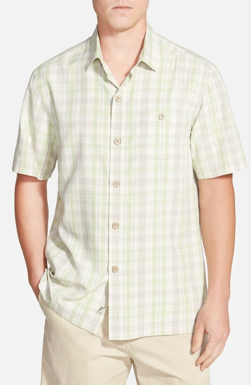 'Hawaii Plaid' Sport Shirt by Tommy Bahama in The Departed
