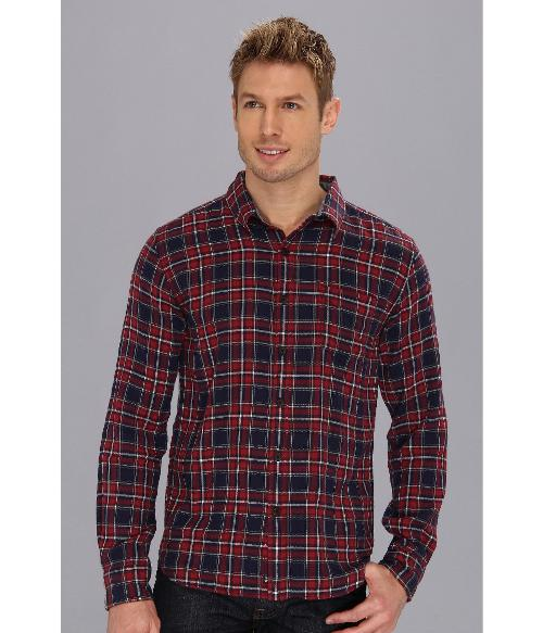 Great Smoky Crinkle Plaid Shirt by Lucky Brand in Neighbors