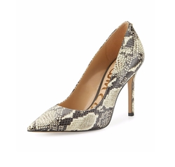 Hazel Pointed-Toe Snake-Print Pumps by Sam Edelman in How To Get Away With Murder