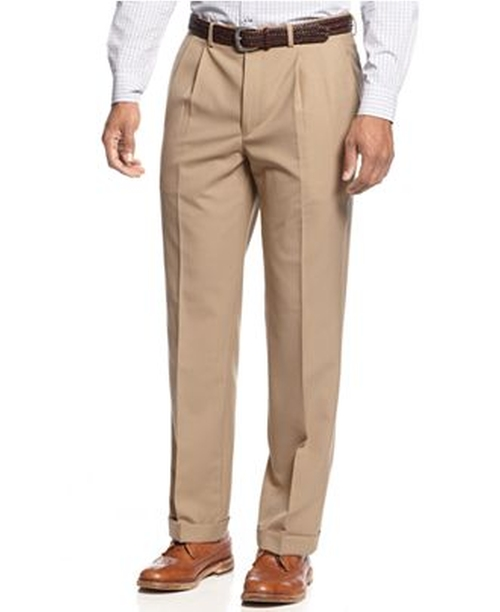 Solid Wool-Blend Pleated Dress Pants by Ralph Lauren in Love the Coopers