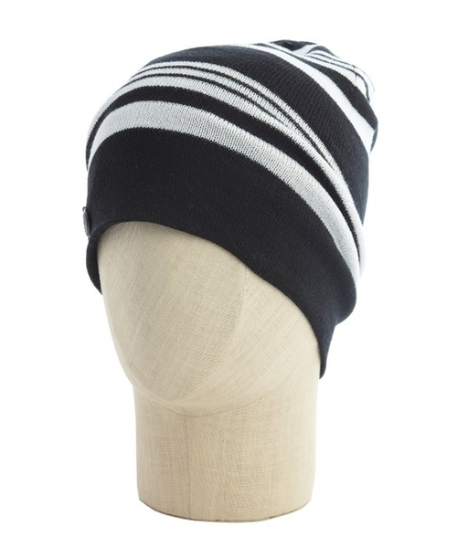 Striped Fine Gauge Knit Reversible Beanie by Vince Camuto in Keeping Up With The Kardashians