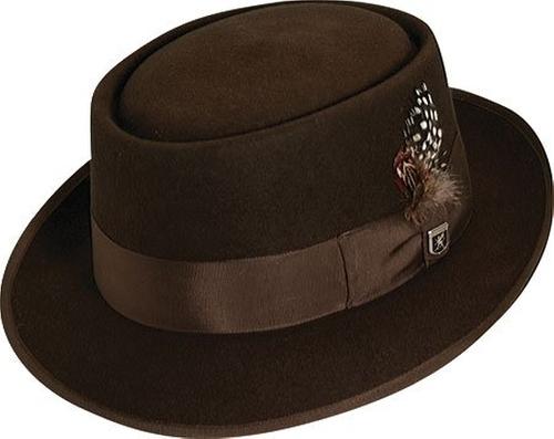 Wool Rocker Fedora Hat by Stacy Adams in The Legend of Tarzan