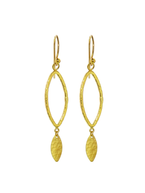 Open Leaf Drop Earrings by Gurhan in Furious 7