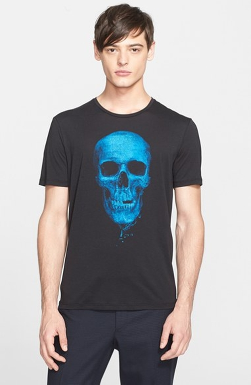 Skull Print Graphic T-Shirt by The Kooples in Pretty Little Liars - Season 6 Episode 20