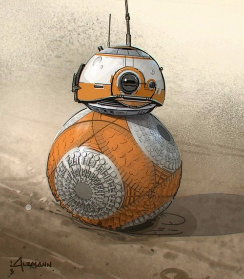 BB-8 Droid by Christian Alzmann (Concept Artist) in Star Wars: The Last Jedi
