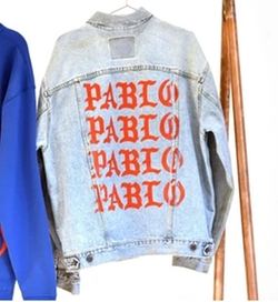 Life of Pablo Denim Jacket by Levi's in Keeping Up With The Kardashians