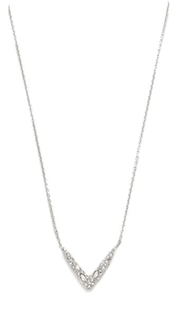 Alexis Bittar Petite Encrusted V Necklace