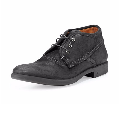 Dylan Distressed-Leather Chukka Boots by John Varvatos in John Wick