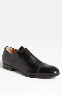 'Salem' Cap Toe Oxford Shoes by Santoni in Suits