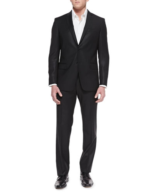 City-Fit 2-Button Wool Suit by Versace in Furious 7