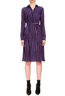 Marian Striped Silk Shirtdress by Altuzarra in Lethal Weapon