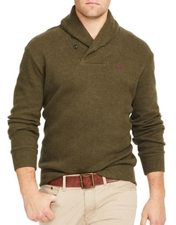 French-Rib Shawl Pullover Sweater by Polo Ralph Lauren in The Flash