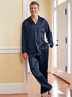 Men's Washable Silk Charmeuse Pajama Set by Winter Silks in Pitch Perfect 2