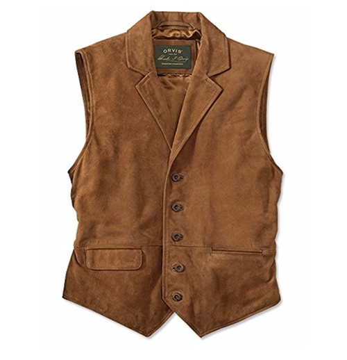 Sueded Lapel Vest by Orvis in Fantastic Beasts and Where to Find Them