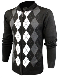 Argyle Zip Up Golf Long Sleeve Sweater by Enimay in Mr. & Mrs. Smith