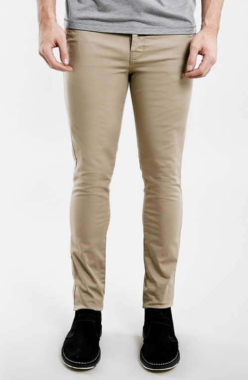 Stretch Skinny Chinos by Topman in Barely Lethal