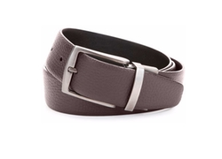 Grained Leather Belt by Giorgio Armani in Rosewood