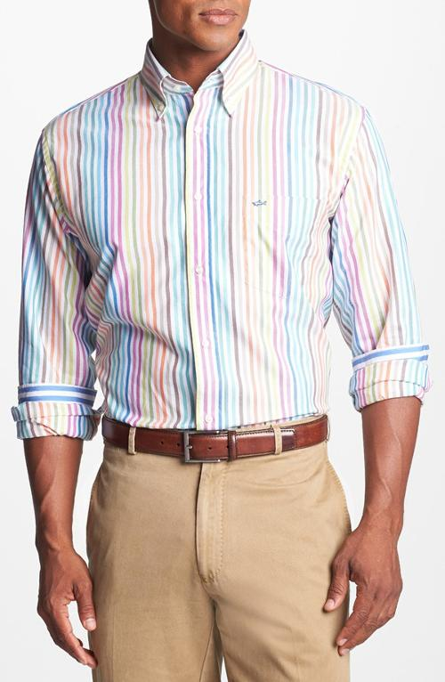 Stripe Oxford Classic Fit Sport Shirt by Paul & Shark in What If