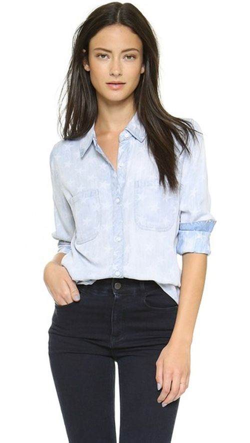 Carter Star Button Down Shirt by Rails in Sleeping with Other People