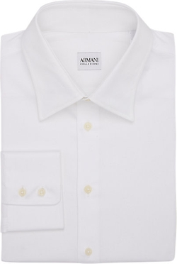 Solid Dress Shirt by Armani Collezioni in Survivor