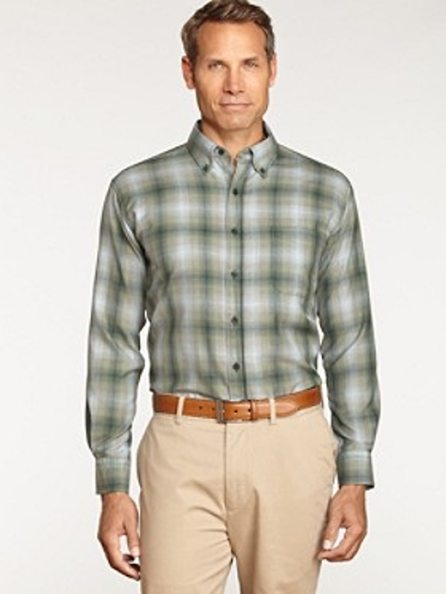 Button-Down Collar Wool Shirt by Pendleton in Love & Mercy