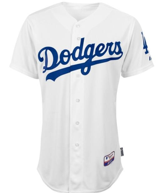 Los Angeles Dodgers Authentic Home Cool Base Jersey by Majestic Athletic in About Last Night