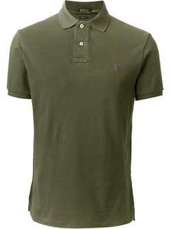 Slim Fit Polo Shirt by Polo Ralph Lauren in Interstellar