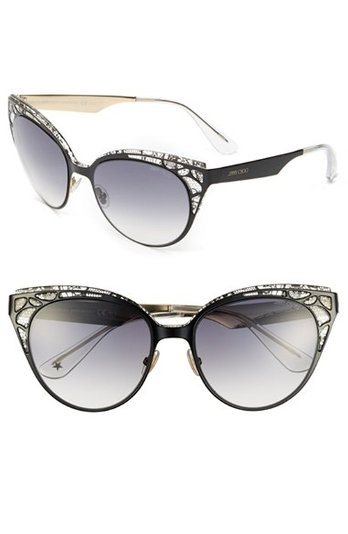 Cat Eye Crystal Lace Sunglasses by Jimmy Choo in A Most Violent Year