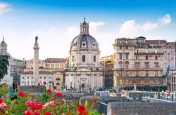 Rome, Italy by Santa Maria di Loreto Church in John Wick: Chapter 2