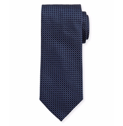 Woven Dotted Circles Neat Silk Tie by Eton in House of Cards