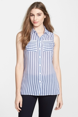Stripe Sleeveless Shirt by Foxcroft in Jane the Virgin
